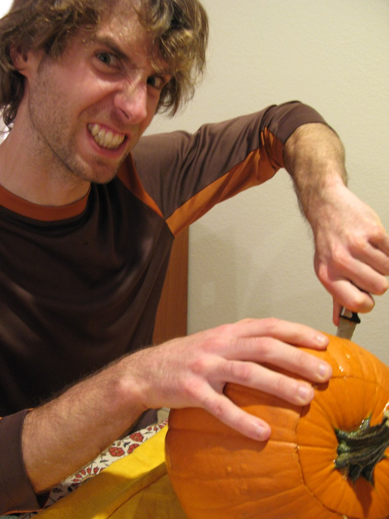 Carving a Pumpkin.